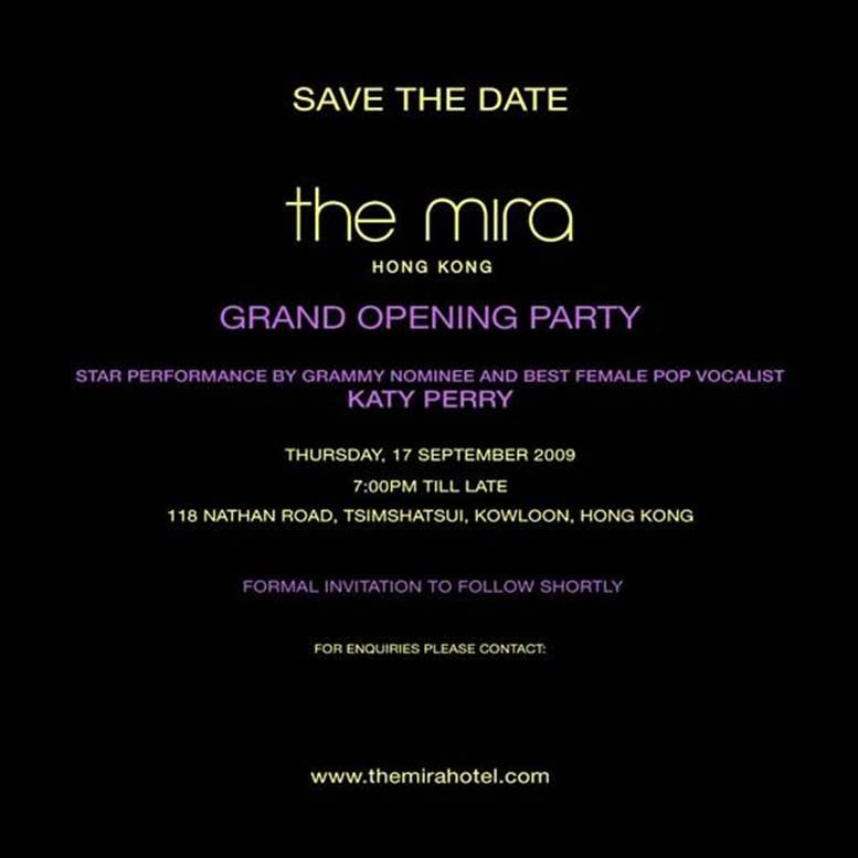 Holy crap katy perry performing at the opening of the mira hotel the mira invite stopboris Gallery